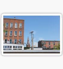 City Buildings Landscape Photograph Sticker
