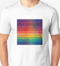 Rainbow lines seamless Mexican pattern Unisex T-Shirt