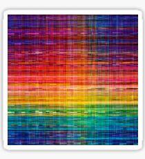 Rainbow seamless rustique fabric pattern Sticker