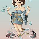 Yin And Yang Moon Princess by Ashthomsonart