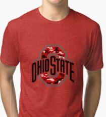 ohio state camo Tri-blend T-Shirt