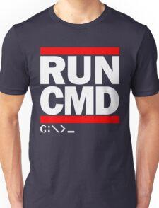 RUN CMD C:\>_ Unisex T-Shirt