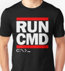 RUN CMD C:\>_ Unisex T-Shirt