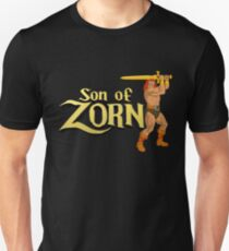 Son of Zorn Fan Art Print Design on Black T-Shirt