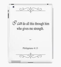 Philippians 4:13 Bible Verse iPad Case/Skin
