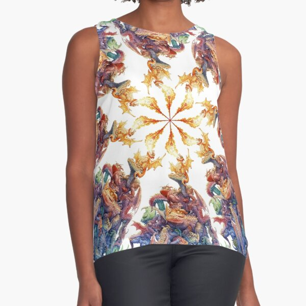 Answer to the Question dragons sprial Sleeveless Top