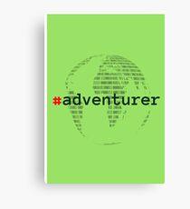 #adventurer Canvas Print