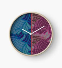 Blue and Purple Abstract Print Duvet Cover Clock