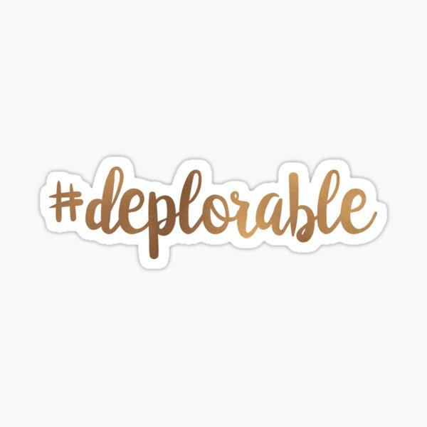 Hashtag Deplorable Sticker