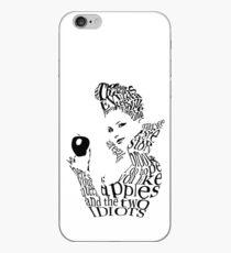 The Evil Queen - Calligram - color WHITE iPhone Case