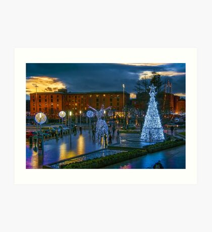 Liverpool ONE toward the Albert Dock Art Print