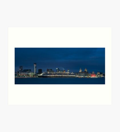 Liverpool Waterfront at night Art Print