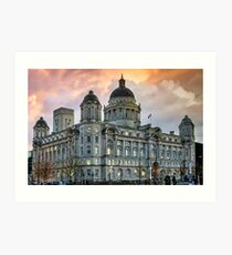Port of Liverpool Building Art Print