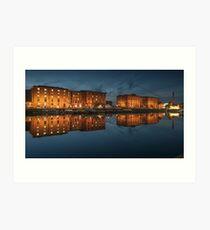 Salthouse Dock Liverpool at night Art Print