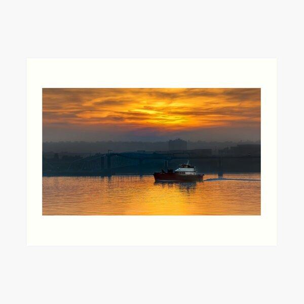 Sunset from Liverpool's Pier Head Art Print