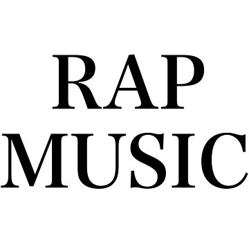 RAP MUSIC Hip Hop camisa divertida del texto, taza, caja del teléfono de blueversion