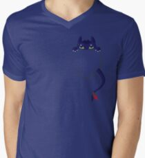 Mini Toothless Men's V-Neck T-Shirt