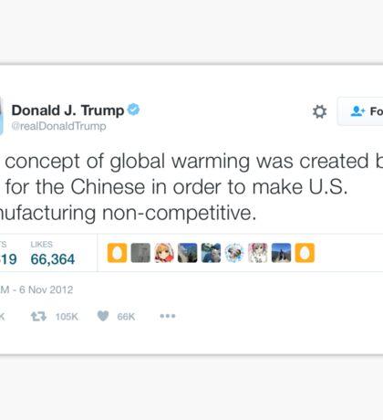 Trump Global Warming tweet Sticker