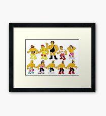 Superstar Simpsons Framed Print