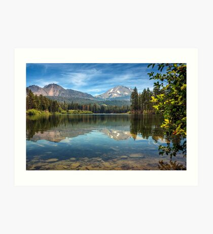 Mount Lassen From Manzanita Lake Art Print