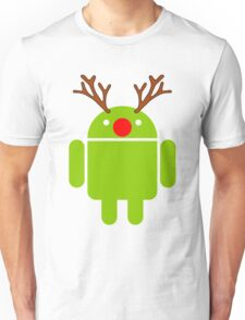 Red Nosed Android Robot Unisex T-Shirt