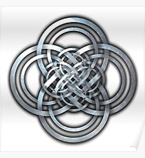 Celtic Knotwork Cross Poster
