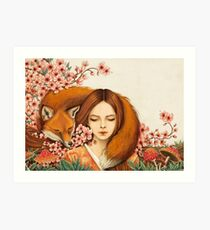 Red Fox Totem. Art Print