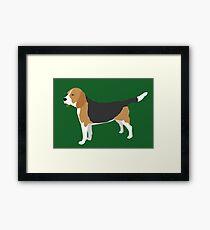 Winnie der Beagle Framed Print