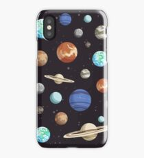 Retro Planet Design iPhone Case