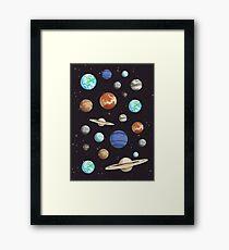 Retro Planet Design Framed Print