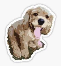 Spaniel Pup Graphic Sticker