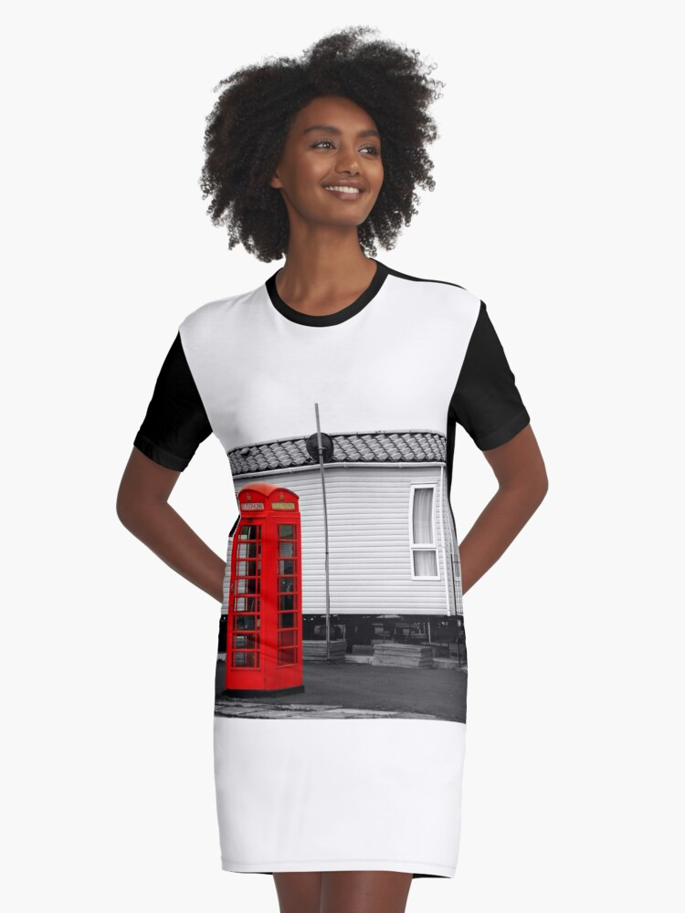 Telephone box Graphic T-Shirt Dress Front