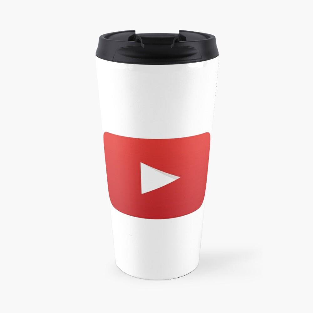 YouTube Play Button (YouTube Logo) Travel Mug