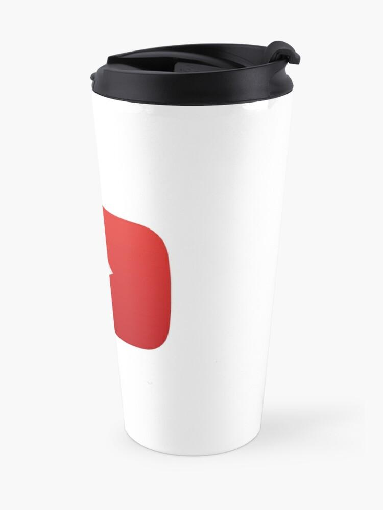Alternate view of YouTube Play Button (YouTube Logo) Travel Mug