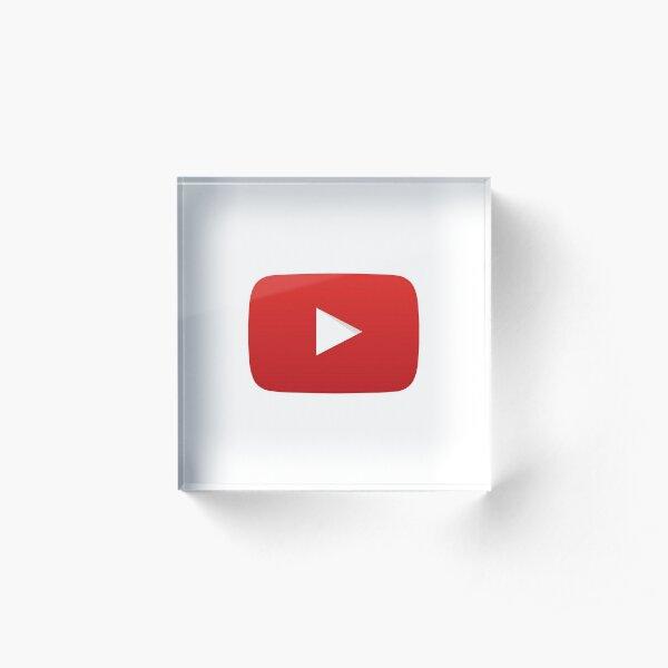 YouTube Play Button (YouTube Logo) Acrylic Block