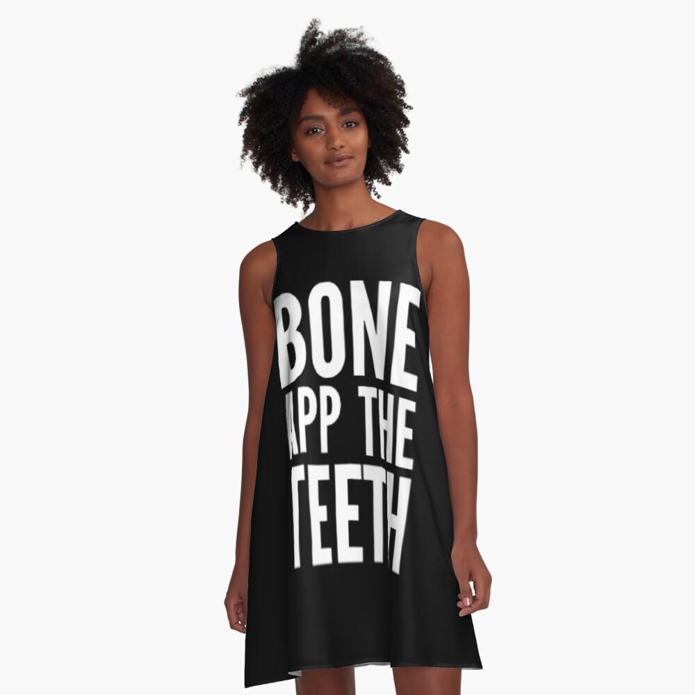 Bone App The Teeth... A-Line Dress Front