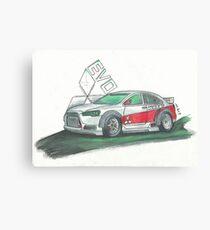 Mitsubishi EVO custom design. Canvas Print