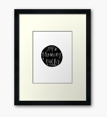 Stop Blaming Bucky Framed Print