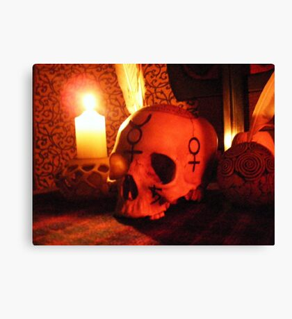 Samhain Candlelight at the Ancestral Shrine Canvas Print