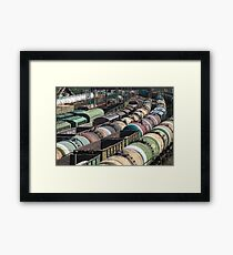 Trains Railroad Junction Framed Print