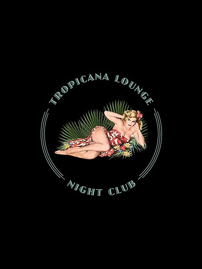 Tropicana Lounge Night Club Hula Girl 2 by Frank Schuster