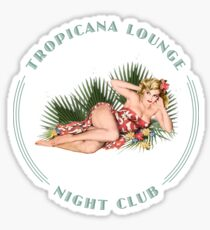 Tropicana Lounge Night Club Hula Girl 2 Sticker