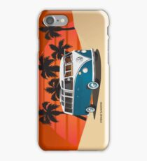 21 Window VW Bus Tuerkis in Desert Side iPhone Case/Skin