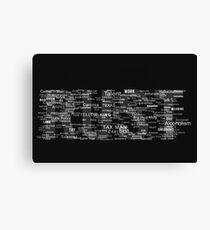 Rust - True Detective Canvas Print