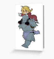 Full Metal Alchemist Chibi  Greeting Card