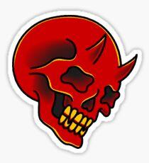 traditional red demon skull Sticker