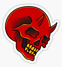 traditional red demon skull Sticker