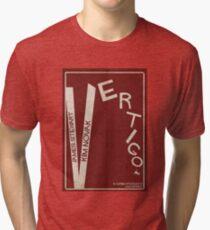 Vertigo - Poster minimalista, Alfred Hitchcock - James Stewart, Kim Novak, póster de pelicula, cartel retro, ilustración Camiseta de tejido mixto