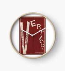 Vertigo - Poster minimalista, Alfred Hitchcock - James Stewart, Kim Novak, póster de pelicula, cartel retro, ilustración Reloj