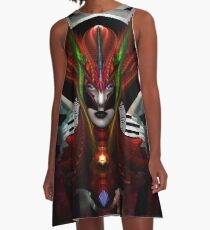 Taidushan Empress Red Dragon A-Line Dress